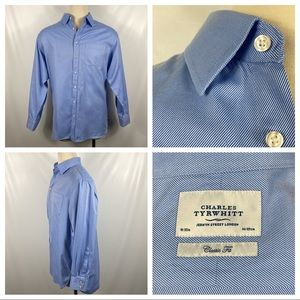 Charles Tyrwhitt Classic Fit Blue Button Up18/35